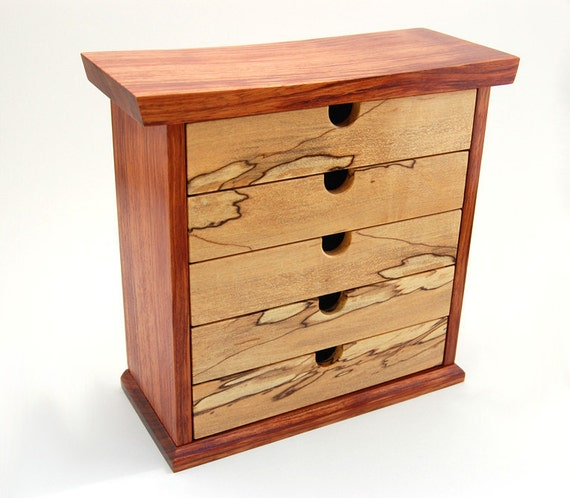 Bubinga and Spalted Maple Jewelry Box / Chest