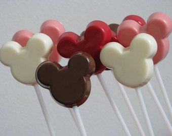 15 Mouse Shaped Chocolate Lollipop