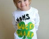 St Patricks Day shirt, Toddler, baby, Shamrock, 12 month, 18 month, 2 T, 3 T, 4 T,  Four Leaf Clover, Lucky Charm, mom dad