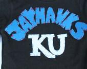 Kansas, KU, basketball shirt, onesie, sport, hand sewn, football