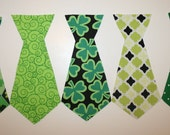 DIY Pick one Iron on Tie St. Patrick's  Fabric  Applique. N1 is not available.