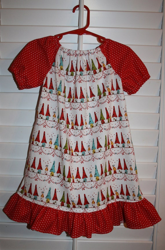 sale... sale..Woodland Neighbors in White Peasant Dress. Size 3T.
