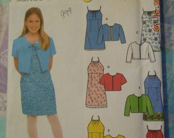 Simplicity 9653   girls dress and jacket