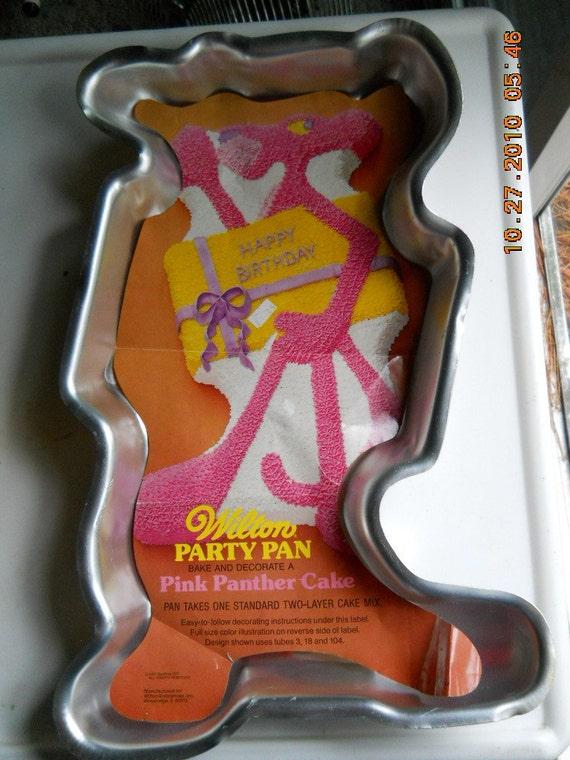Pink Panther Cake Pan Instructions