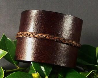 Leather Cuff-Brown cuff-Women Cuff-Men Cuff-Wrist Women Bracelet-Leather Wristband-Gifts-Friendship Bracelet-Friendship Gifts-Gift for Her