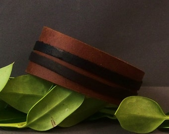 Leather Cuf (Two Bands)