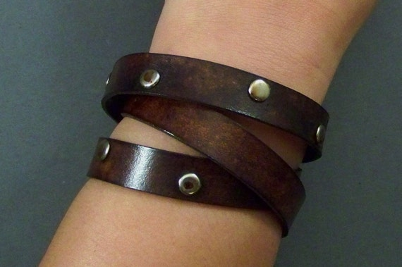 Wrap Around Bracelet, Leather Bracelet, Women Bracelet, Men Bracelet, Leather Wrist Bracelet, Friendship Bracelet, Brown Leather Bracelet