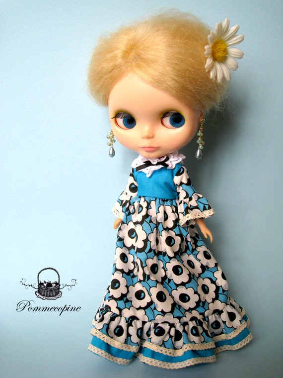 Blythe outfit clothe dress Something Blue by POMMECOPINE