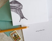 Sorry So Slow, But... (an all-belated-occasion letterpress greeting in a single card & envelope)