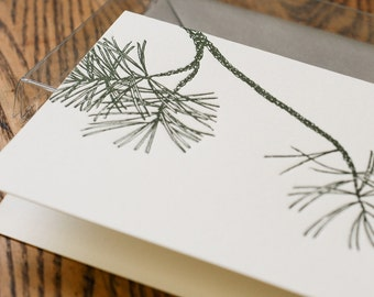 A Pine Flavored Greeting (in a single letterpress printed card &  envelope)