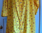 1960 Bright Cadmium Yellow House Robe by Carole size Large