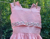 "1960 ""Tiny Town"" Pink Girls Dress size 12"