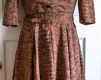 40s Vintage Jerry Gilden Spectator Designer Dress