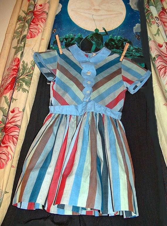 """Sale 25% 1960s Original Vintage Girls Dress designer """"Celeste"""" New York"""