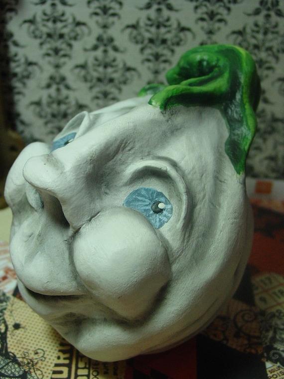 Rolly - A Very Pleasant,  Folk Art, Lumina Pumpkin Sculpture