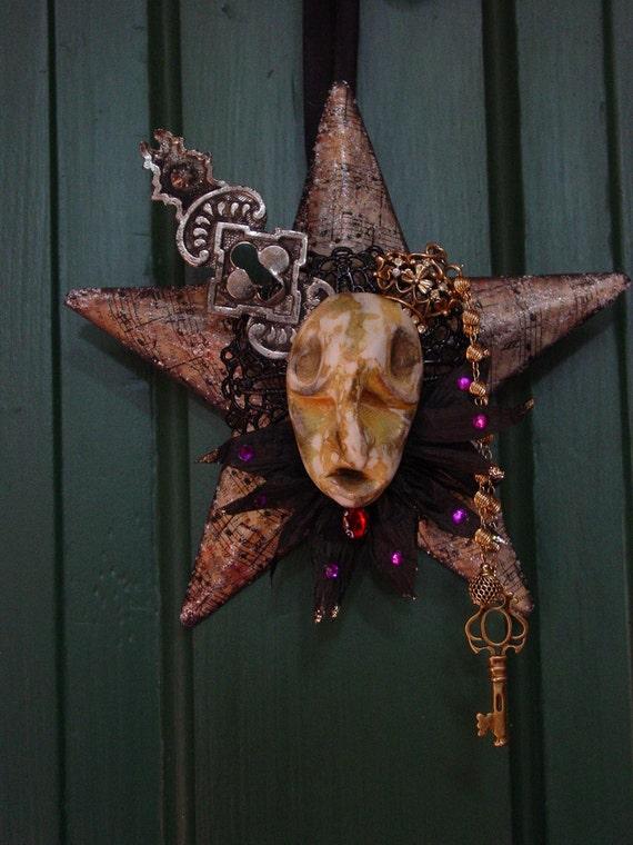 Tortured Soul Assemblage Art - Halloween Ornament