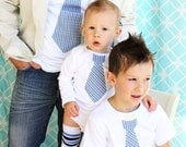 Holiday Tie Shirt Gift Set of 2.  Men's Tie T-Shirt and Boys Tie T-Shirt.  Winter Wedding, Plaid Men's Outfit, Christmas Outfit Thanksgiving