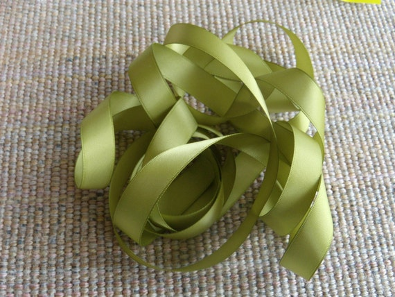 Stampin Up Old Olive Satin Ribbon Retired