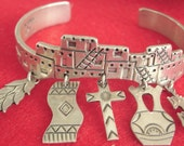 saved for Cherie Sterling Bracelet Handcrafted Native American