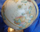 Sale   Vintage World Globe Showing Everything Including Steamship Routes