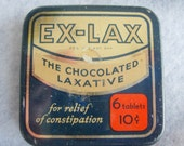 Old Ex-Lax Tin Box 6 tablets for 10 Cents