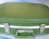 Sleek Vintage Small Suitcase or Overnight Bag