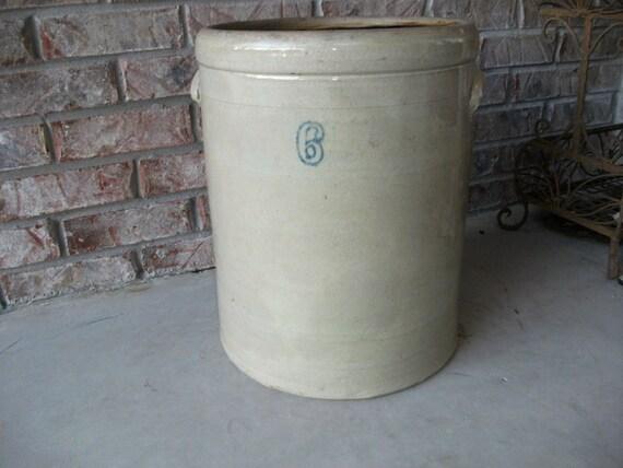 Stoneware Crock 6 Gallon