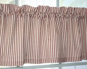Custom Order for Sharon Valance Waverly Red and Ivory Striped Timeless Ticking Fabric with lining