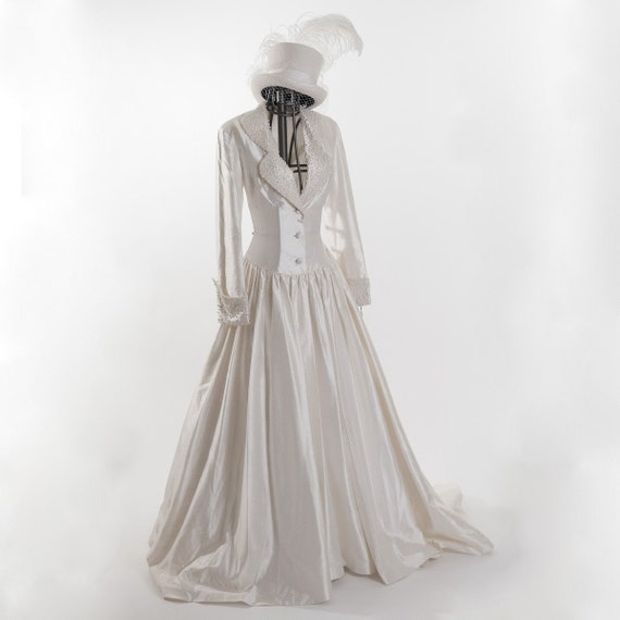 Steampunk Wedding Gowns: Items Similar To Rena Koh Raw Silk Couture Bridal Gown
