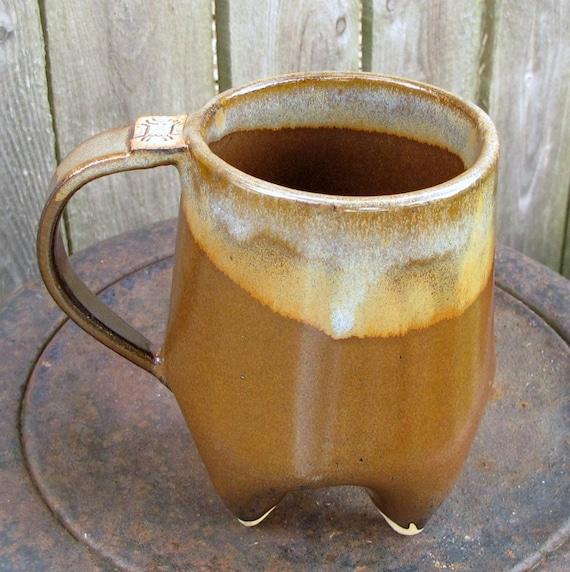 Mocha Choco-Latte Handbuilt Potbelly Mug/Coffee Cup