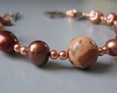Valentins day Jewelry /Valentines bracelet / Elegant Cinnamon Spice Bracelet - 2010louisek7