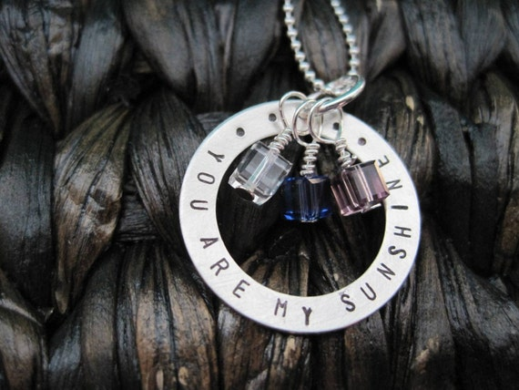 Sunshine - Hand Stamped & Custom Necklace