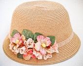 Cloche Hats for Women, Sun straw hat , summer accessories
