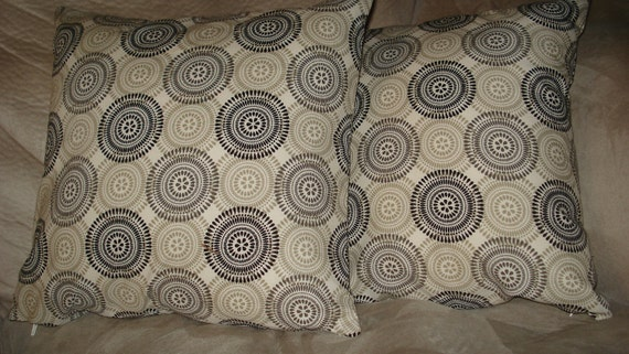 Beige Pillow Covers with Circles