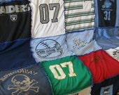 Custom  T-shirt Memory Keepsake Rag Quilt with Flannel Back: 20 shirts  Twin Sized