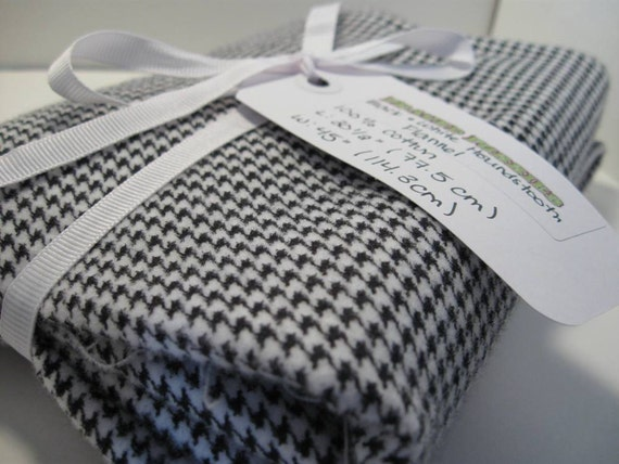 Black and White Houndstooth Print Flannel--READY TO SHIP