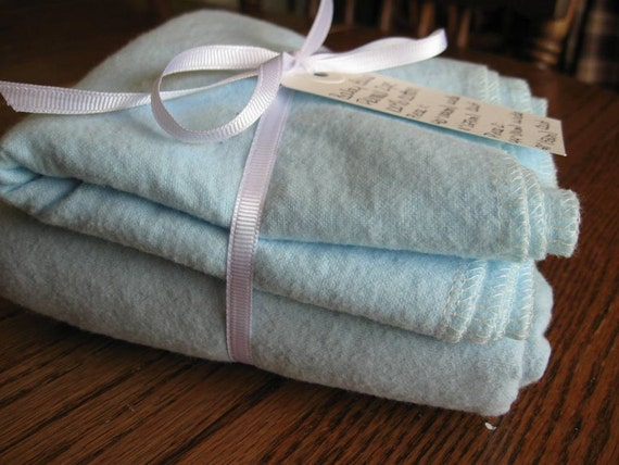 Baby Blue Cotton Flannel Two Cuts -- 11 inches (27 cm) and 21 inches (53 cm) READY TO SHIP