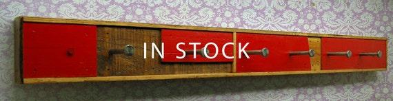 Recycled Wood 6 Hook Coat Rack (SCARANO)