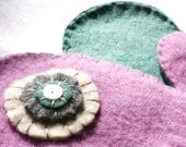 Purple Upcycled Wool Mittens