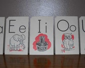 Vintage Flash Cards - Set of Three