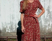 Floral Maxi Dress by Liz Claiborne 90s grunge boho sz. m