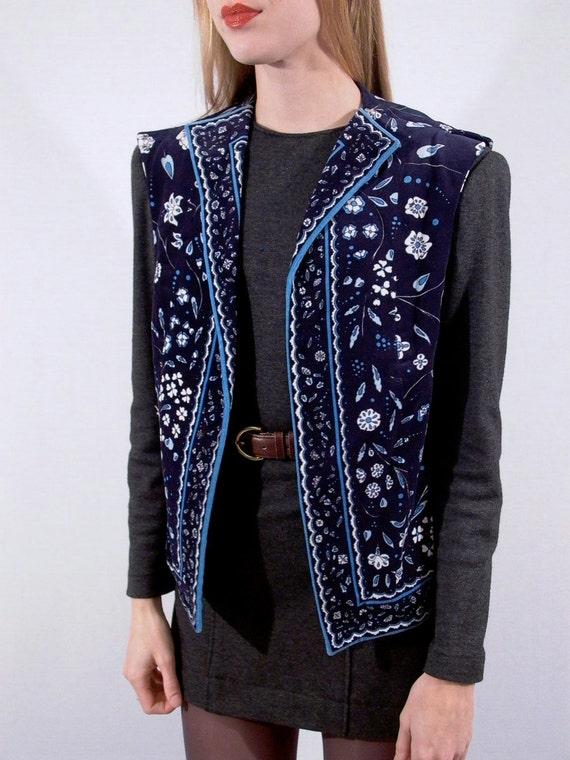 Pucci Velvet Vest vintage 70s from saks fifth avenue sz. m