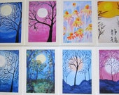Set of greeting Cards SMALL NOTECARD boxed set of 8 - choose your own set