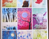 SMALL NOTECARD SET of 4- Choose one image