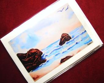 GREETING CARD Westcoast Trail Sea Water Rocks