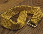 Golden Yellow Knit Cotton BRAIN BELT