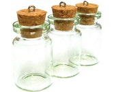 10PCS 35X22mm Glass vials bottle clear message bottle with metal eye pin charms (6-10-01)