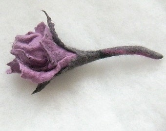 Felted Brooch Asches ot  Roses