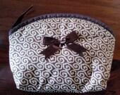 Lovely lady timeless coin cotton zipper open bag