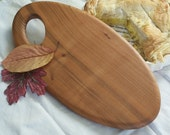 Wooden cutting board/ cheese platter/ welsh wild cherry